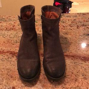 Frye Double Zip ankle boots; worn twice